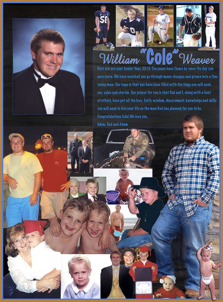 18 best High School Senior Yearbook Pages images on Pinterest | High ...