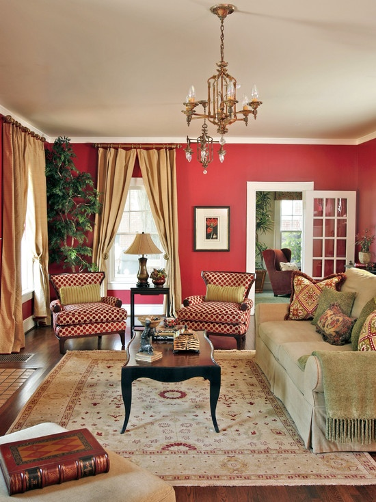 Traditional Living Room Colors 71 best red living room images on pinterest | red living rooms