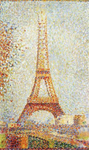 La Tour Eiffel (1889) - G. Seurat.
