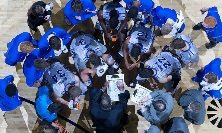 Creighton head coach Greg McDermott leads a timeout in the first half as Creighton hosted Marquette in the Bluejays' debut Big East game at the CenturyLink Center in Omaha on Dec. 31, 2013. By: MARK DAVIS/THE WORLD-HERALD