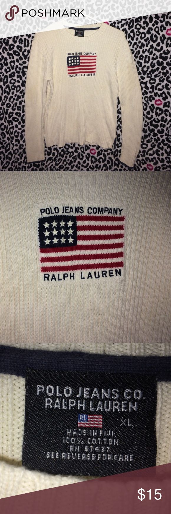 Ralph Lauren Polo Sweater Ralph Lauren Polo Ribbed Sweater. Cream/Off White in color. Beautiful Sweater. One of my favorites. Just kind of grew out of it. Polo by Ralph Lauren Sweaters Crew & Scoop Necks