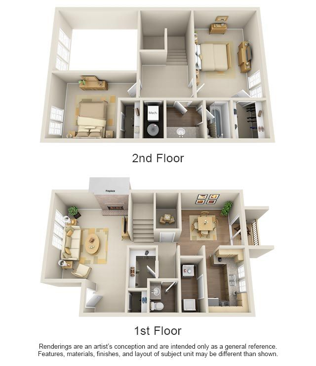 One Two Bedroom Apartments In Edmond Ok In 2020 Sims House Design Apartment Layout House Floor Plans