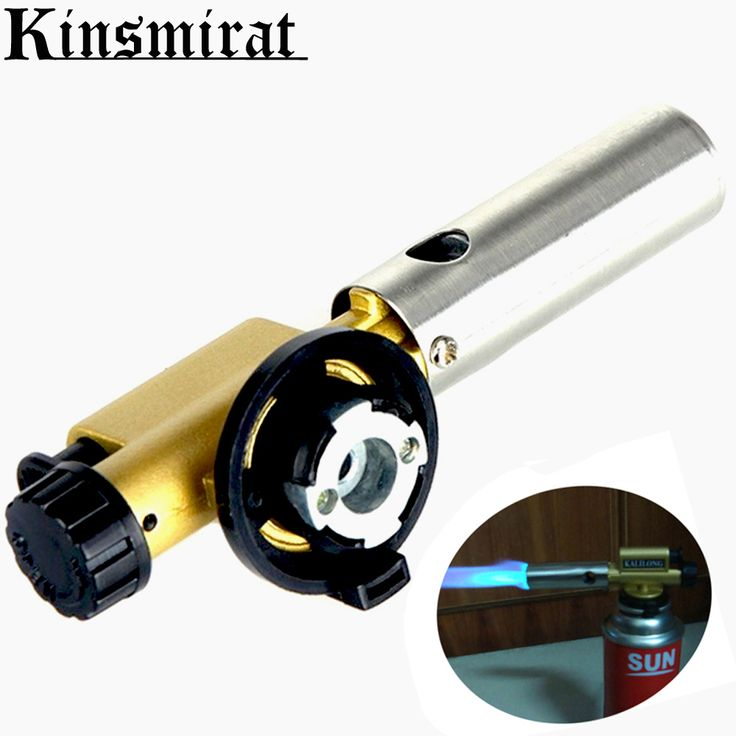 Camping Flame Gas Torch Welding Gas Burners Stove Gun Electronic Ignition Copper Butane Maker Lighter BBQ Picnic