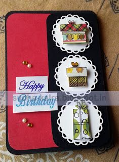 #cardforaBirthday....our creation..   For more details,check here- http://sudha-kalra.blogspot.in/2017/07/happy-birthday.html