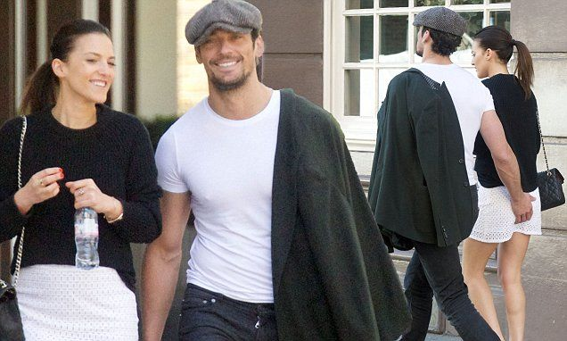 David Gandy, 36, looks to have landed himself a new girlfriend after he was spotted packing on the PDA with a mystery brunette on Saturday.