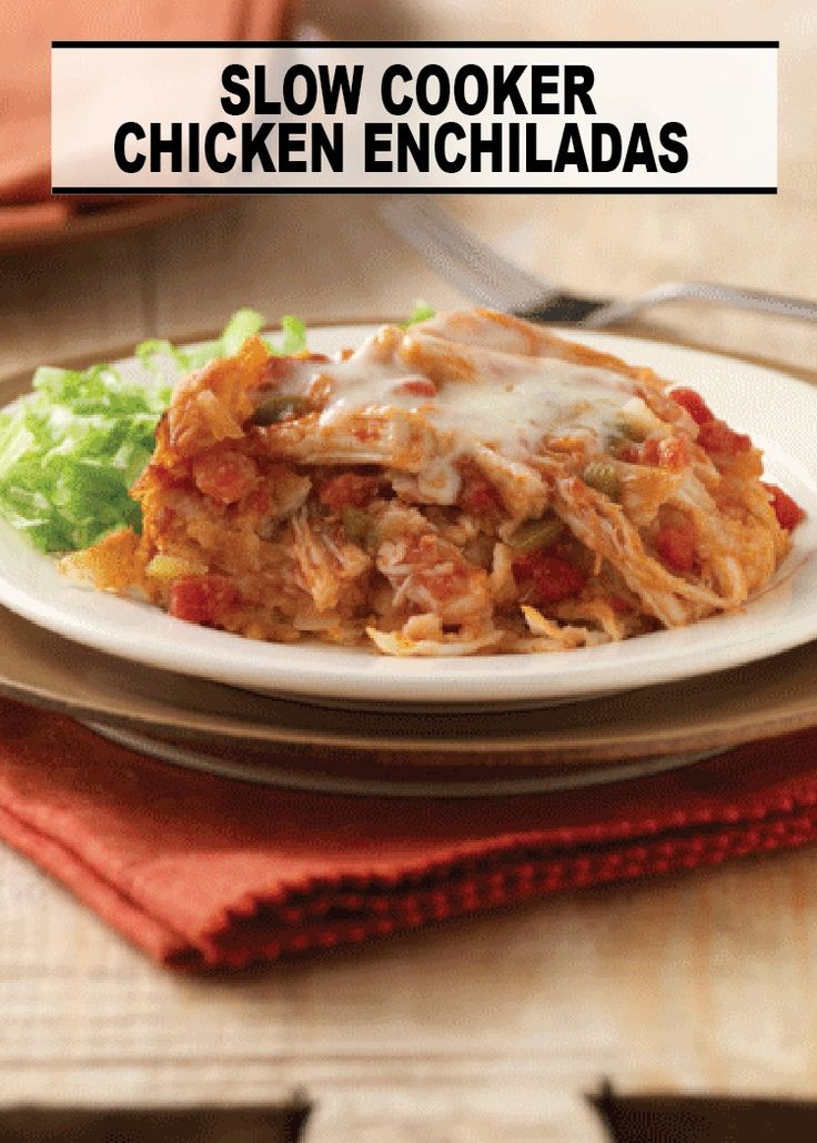 Slow Cooker Chicken Enchiladas – a delicious slow cooker recipe that ...