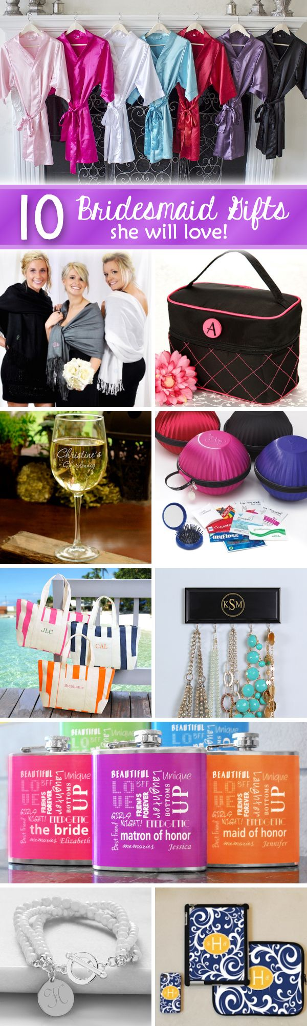 1000 ideas about best bridesmaid gifts on pinterest for Gifts she ll love