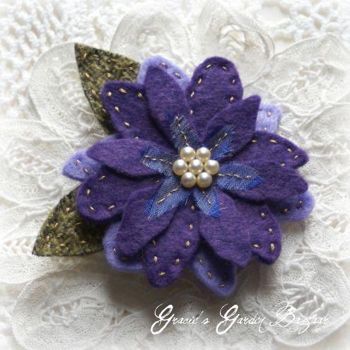 Tutte le dimensioni |'Bel Espirit' purple clematis brooch | Flickr – Condivisione di foto!