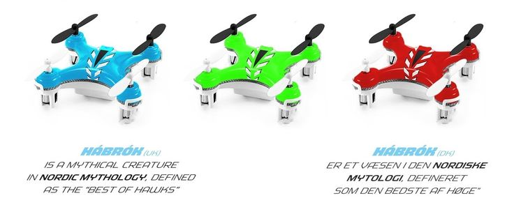 Nano Drone med propelbeskyttere. 40 mm bred :-)