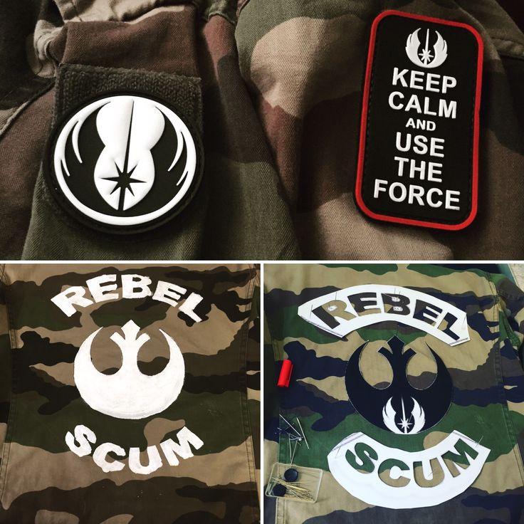 Work on my Star Wars jacket so far. X