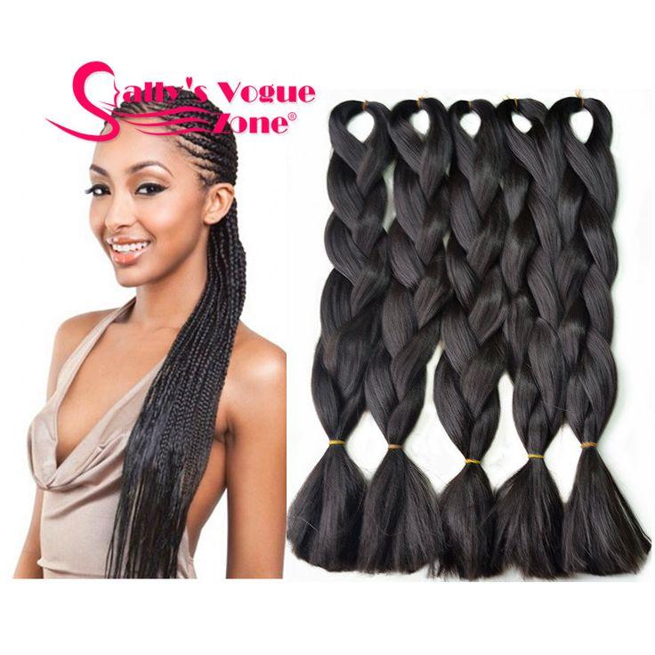 Ombre Braiding hair Extension Kanekalon Mambo Twist Synthetic Hair Braids Box Braids Bulk Hair for Jumbo Braiding