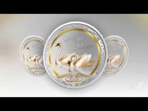Серебряные монеты о любви