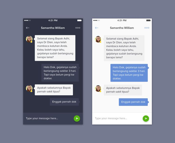 Chat App - Dark and Light