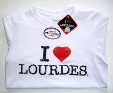 Ladies Lourdes White T-Shirt.