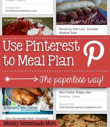 Mostly Homemade Mom: How to Use Pinterest to Meal Plan - the Paperless Way!