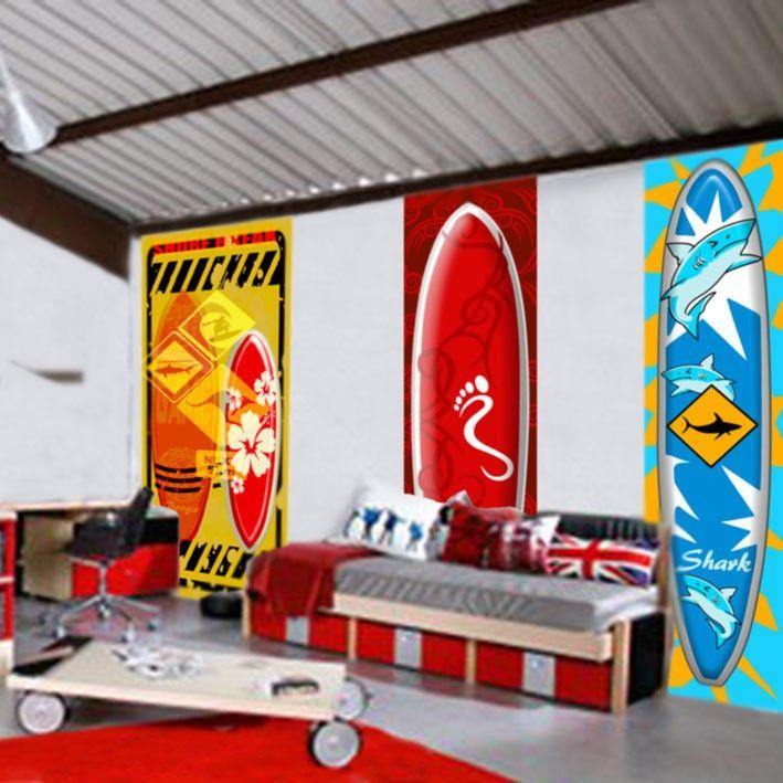 Papier peint th me surf australie chambre hugo pinterest surf - Thema chambre garcon ...