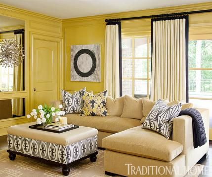 129 Best Yellow Living Room Images On Pinterest  Yellow Living Glamorous Yellow Living Rooms Inspiration Design