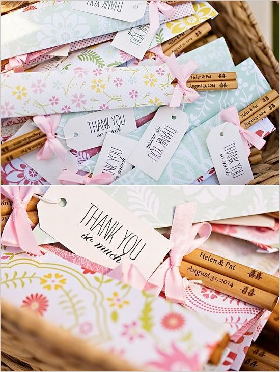 Chopstick wedding favors @weddingchicks