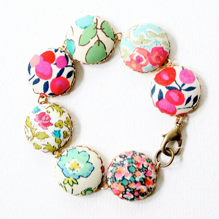 NEW Liberty Fabric Bracelet. $30.00, via Etsy.