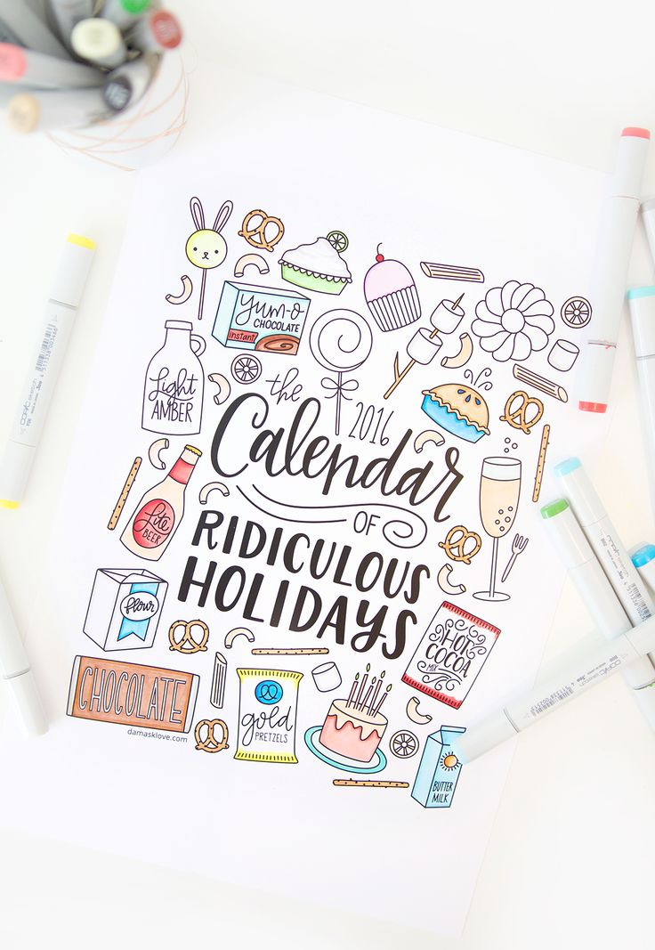 Free Printable Coloring Calendar | damask love: