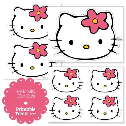 356 best images about memory games art craft on pinterest for Hello kitty cut out template