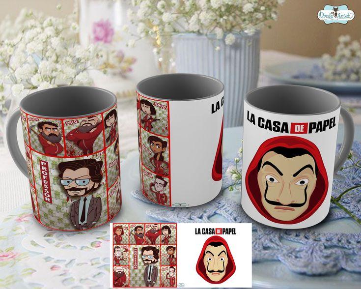 Red Mug La Casa Paper Netflix Series – Mod.12 at Elo7 | Dasde Artes – Table Decor (E12B5A)