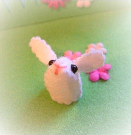 Tiny Bunny by nicolaluke: Made of felt. $6 #Bunny #Toy