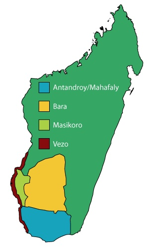 Southwest Madagascar People Group Locations
