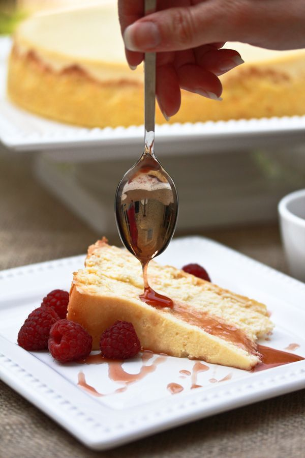 Yogurt Cheesecake with Orange Shortbread Crust and Chambord Honey ...