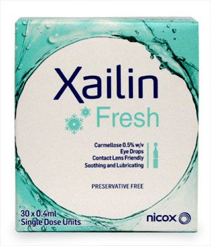 Xailin Fresh Eye Drops 0.4mlx30 Single Dose Units Xailin Fresh Eye Drops 0.4mlx30 Single Dose Units: Express Chemist offer fast delivery and friendly, reliable service. Buy Xailin Fresh Eye Drops 0.4mlx30 Single Dose Units online from Express Chemist http://www.MightGet.com/january-2017-11/xailin-fresh-eye-drops-0-4mlx30-single-dose-units.asp
