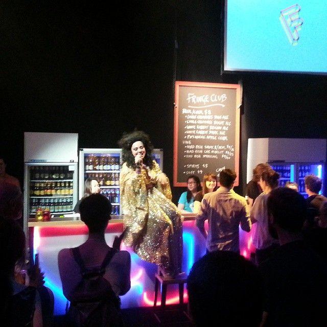 """@melbfringe's photo: """"MC Yana Alana kicks off the annual Melbourne Fringe Awards! #glamour #fringeclub #mfringe"""""""
