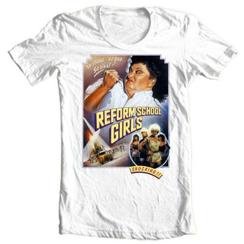 Reform-School-Girls-T-shirt-punk-Wendy-O-Williams-Plasmatics-CBGBs-80s-tee