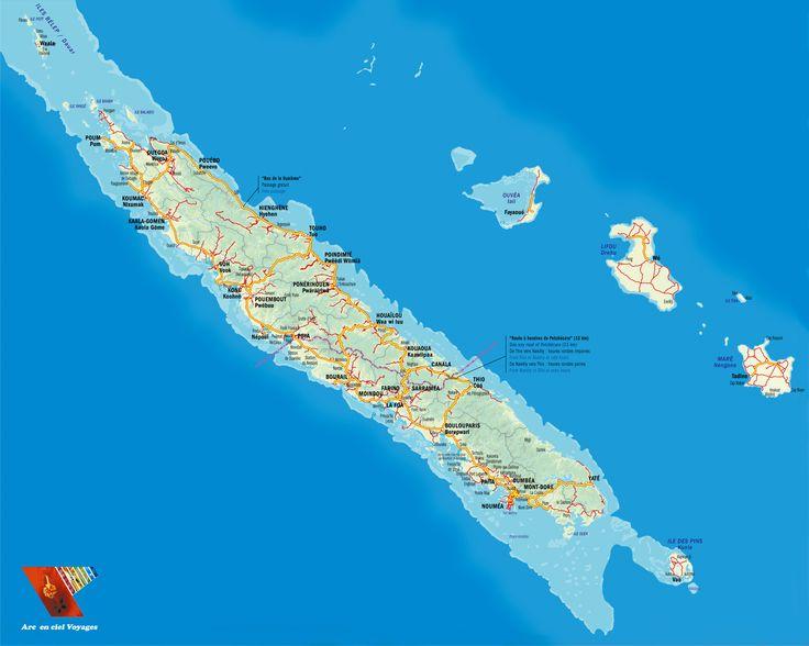 NC détaillée carte/map