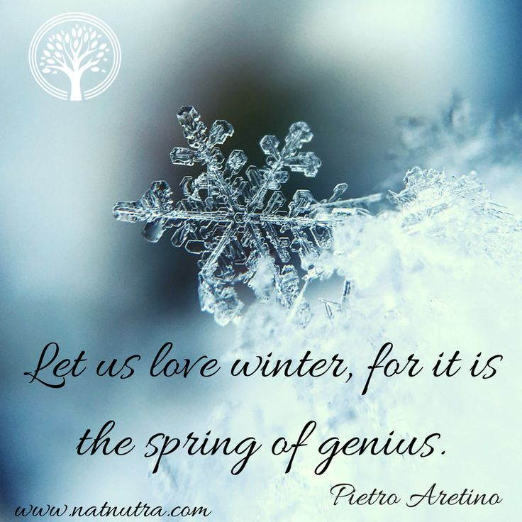 Ordinaire Let Us Love Winter, For It Is The Spring Of Genius.❄