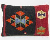 kilim lumbar pillow 16x24 home furnishing outdoor throw pillow antique tapestry retro decor modern pillow sham patio pillow case black 22293
