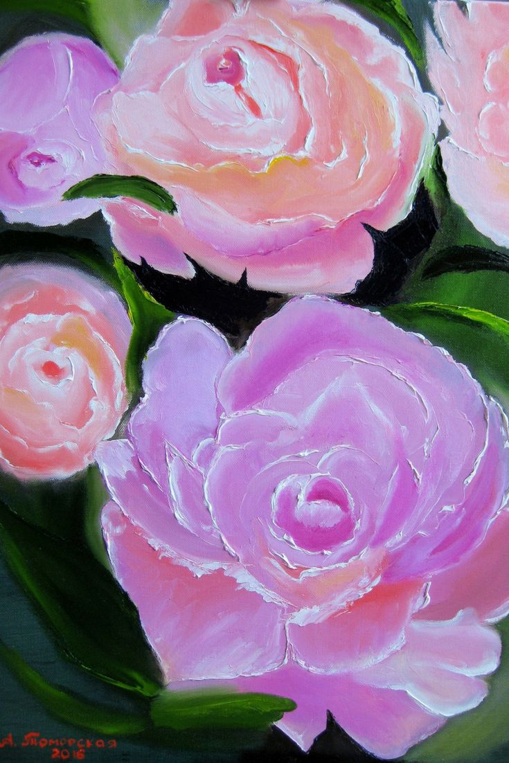 """""""Peony"""", Original Oil Painting on Canvas. Home Decor. Wall Decor. Perfect Gift. Wall Decorating. Wall Art. Gift for Her. 2016, 18""""x24"""", 46x61 sm. Performed in trendy palette knife technique. Unframed. AVAILABLE FOR IMMEDIATE PURCHASE.   This is an ORIGINAL oil painting on a wrapped stretched canvas.   The materials I use, including canvases, paints and mediums are permanent and of professional quality. As far as only lightfast pigments are employed in those paints formulation, the colors…"""