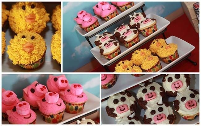 Farm Party Barnyard Bash Cupcakes