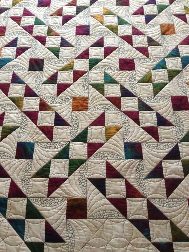 colours are great and quilting clever