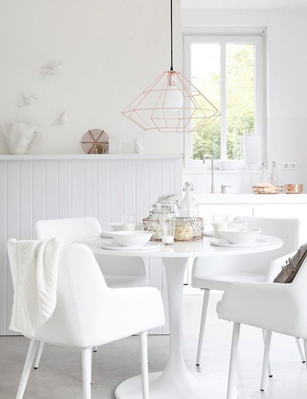 AN ALL WHITE HOME WITH A TOUCH OF COPPER | THE STYLE FILES