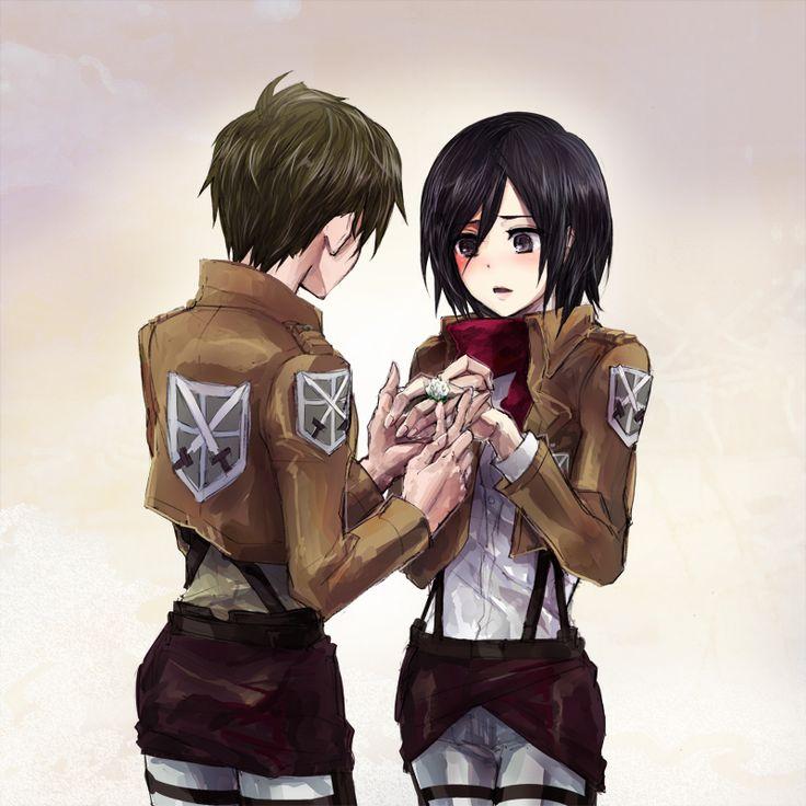 142 best Mikasa x eren...