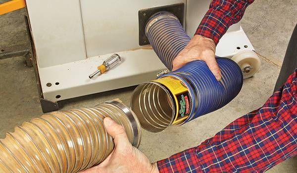 This reader has found a way to recycle his old coffee cans to upgrade his woodworking shop's dust collection hose system.