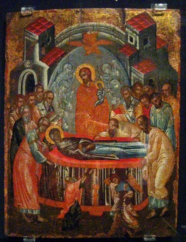 Успение Пресвятой Богородицы. Икона, 17-й век