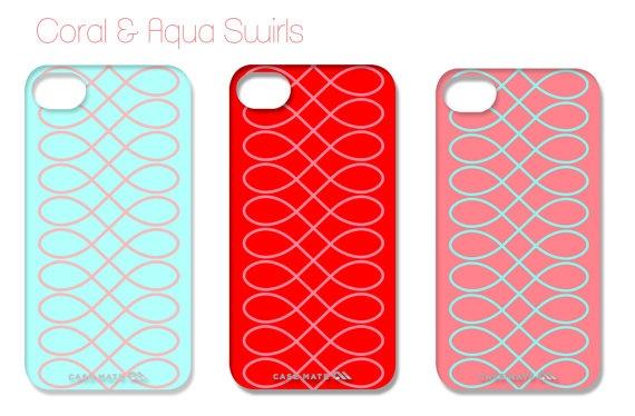 Coral & Aqua Swirls iPhone Cover by ShorelyChic on Etsy, $44.00Puree Joy, Paperie Etsy, Aqua Swirls, Phones Stuff, Joy Paperie, Swirls Iphone, Iphone Covers, Coral Aqua, Etsy Shops