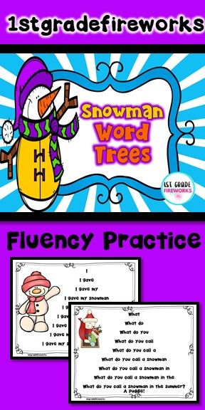 Fluency Practice! Fluency Practice with Sight Words. Students practice reading a sentence word by words, phrase by phrase, until they have read the complete sentence. Great practice for students who need scaffolding. Reading practice, sight word practice, and fluency modeling. Small groups, interventions, one on one, independent practice. Snowman- winter themed. #fluency