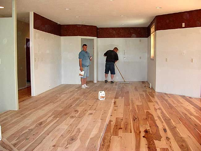 Rustic hickory flooring unfinished gurus floor for Unfinished hardwood floors