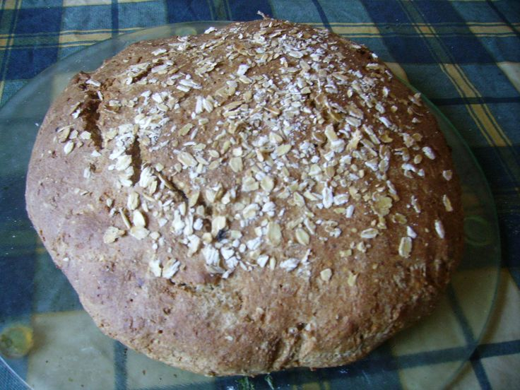 Бездрожжевой домашний хлеб