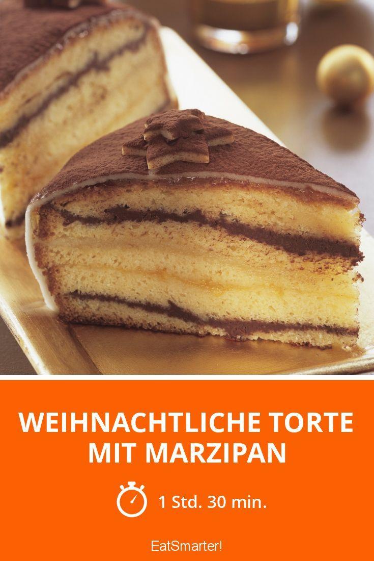 Weihnachtliche Torte mit Marzipan - smarter - Zeit: 1 Std. 30 Min. | eatsmarter.de