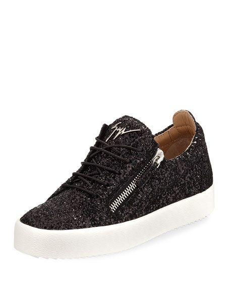 234cab6b723 May Coarse Glitter Platform Sneakers by Giuseppe Zanotti at Neiman Marcus