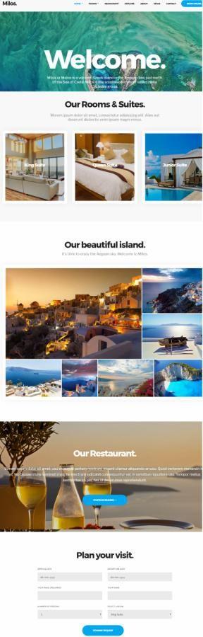 CSSIgniter Milos : Premium Hotel WordPress Theme http://www.awordpressthemesreview.com/cssigniter-milos/ #WordPress