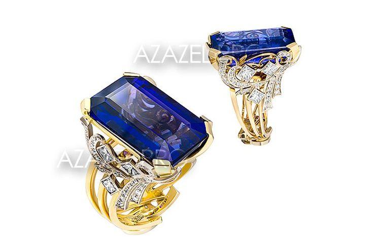 Танзанит стал желанным выбором самых проницательных женщин по всему миру, чей утончённый вкус отражает внутреннее чувство стиля и индивидуальности и кроме того явился воплощением женственности, элегантности и абсолютной чувственности.  Перстень с Танзанитом и Алмазами!  http://azazel.pro/tanzanite-gemstone/seal-ring-made-of-gemstone-tanzanite.html#105011pe  #ring #перстень #танзанит #tanzanite #украшения #jewellery
